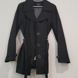 Faded Glory Black Raincoat